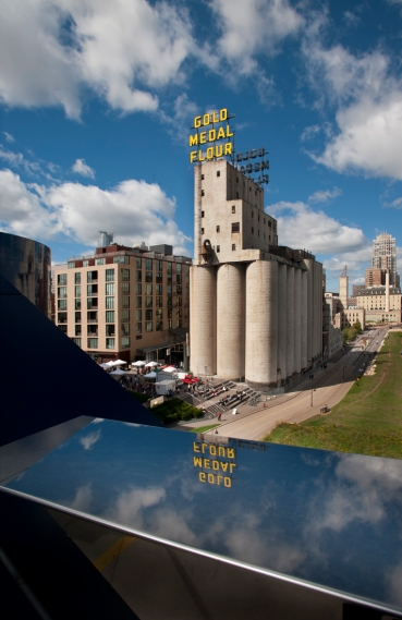 The historic mill district of downtown Minneapolis and the Mill City Farmers Market